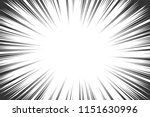 comic book radial lines... | Shutterstock .eps vector #1151630996