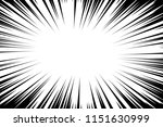 comic book radial lines... | Shutterstock .eps vector #1151630999