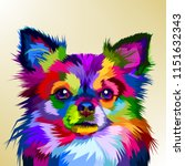 Colorful Chihuahua Dog In Pop...