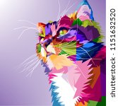 Cat Cute Pop Art Colorful