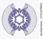 blue abstract rosette | Shutterstock .eps vector #1151635823