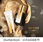 luxury golden color skincare... | Shutterstock .eps vector #1151636879