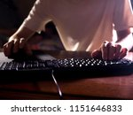 close up gamer hands on the...   Shutterstock . vector #1151646833