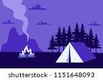 beautiful horizontal nature... | Shutterstock .eps vector #1151648093