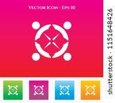 team icon in colored square box.... | Shutterstock .eps vector #1151648426