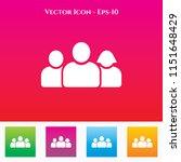 team icon in colored square box.... | Shutterstock .eps vector #1151648429
