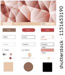 light pink  yellow vector ui ux ...