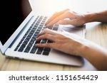 asian woman working in office... | Shutterstock . vector #1151654429