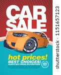 vector car sale design template ... | Shutterstock .eps vector #1151657123