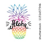pineapple colorful sketch... | Shutterstock .eps vector #1151657546