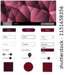 dark red vector web ui kit in...