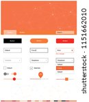 light red  yellow vector ui kit ...