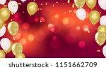 vector party balloons... | Shutterstock .eps vector #1151662709