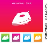 cloth iron icon in colored... | Shutterstock .eps vector #1151664893