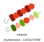 kebab icon signs | Shutterstock .eps vector #1151671940