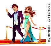 vector cartoon couple of famous ... | Shutterstock .eps vector #1151675036