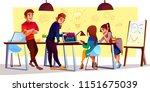 vector cartoon characters at... | Shutterstock .eps vector #1151675039