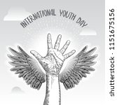 international youth day  iyd is ... | Shutterstock .eps vector #1151675156