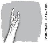hand gesture sketch. man wrist...   Shutterstock .eps vector #1151675186