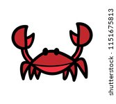 cartoon crab illustration | Shutterstock .eps vector #1151675813