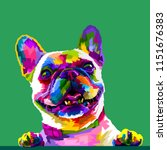french bulldog in pop art... | Shutterstock .eps vector #1151676383