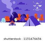 beautiful horizontal nature... | Shutterstock .eps vector #1151676656
