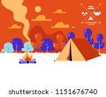 beautiful horizontal nature... | Shutterstock .eps vector #1151676740