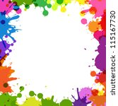 colorful page borders. fabulous frame with color blobs colorful page borders Colorful Page Borders  Excellent Border With
