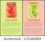 preserved food poster red... | Shutterstock .eps vector #1151682809