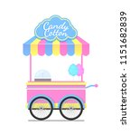 candy cotton wagon colorful...   Shutterstock .eps vector #1151682839