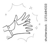 applause hand drawn | Shutterstock .eps vector #1151684333