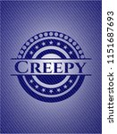 creepy denim background | Shutterstock .eps vector #1151687693