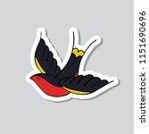 swallow illustration... | Shutterstock .eps vector #1151690696