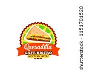 mexican fast food restaurant... | Shutterstock .eps vector #1151701520