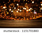 image of wooden table in front... | Shutterstock . vector #1151701883