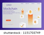 cryptocurrency and blockchain... | Shutterstock .eps vector #1151703749