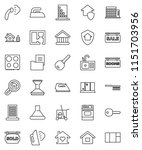 thin line vector icon set  ... | Shutterstock .eps vector #1151703956