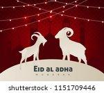 eid al adha mubarak the... | Shutterstock .eps vector #1151709446
