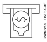 insert money thin line icon ... | Shutterstock .eps vector #1151716289
