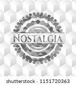 nostalgia grey badge with... | Shutterstock .eps vector #1151720363