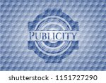 publicity blue emblem with... | Shutterstock .eps vector #1151727290