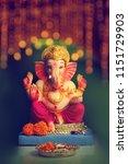 lord ganesha   ganesh festival | Shutterstock . vector #1151729903