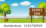 a family zoo landscape... | Shutterstock .eps vector #1151733929