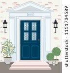 front door house exterior... | Shutterstock .eps vector #1151734589