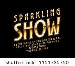 vector chic logo sparkling show.... | Shutterstock .eps vector #1151735750