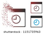 vector time calendar page icon... | Shutterstock .eps vector #1151735963