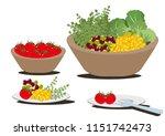 salad bowl clip art... | Shutterstock .eps vector #1151742473
