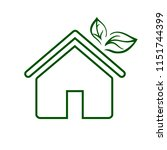 eco house line icon.... | Shutterstock .eps vector #1151744399