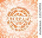 aberrant orange tile background ...   Shutterstock .eps vector #1151745953