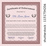 red diploma template or... | Shutterstock .eps vector #1151754206
